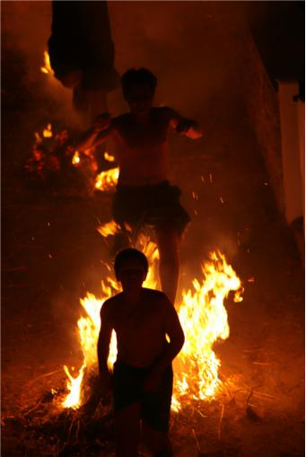 summer festival, summer solstice, Greece, bonfire, Feast of Agios Ioannis