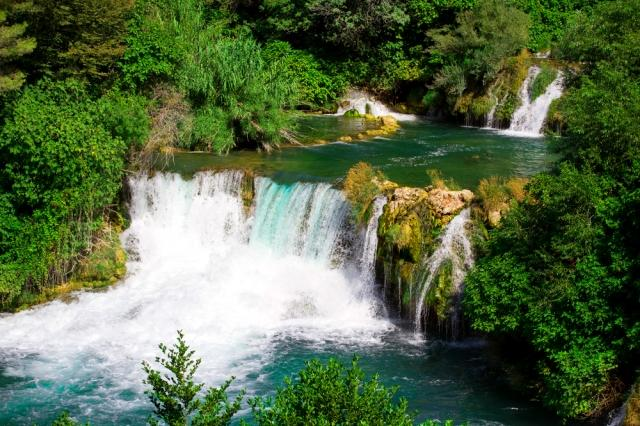 Beautiful Waterfalls - Roski Slap, Krka National Park, Croatia