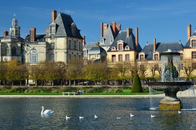 The spectacular Medieval chateau at Fontainebleau