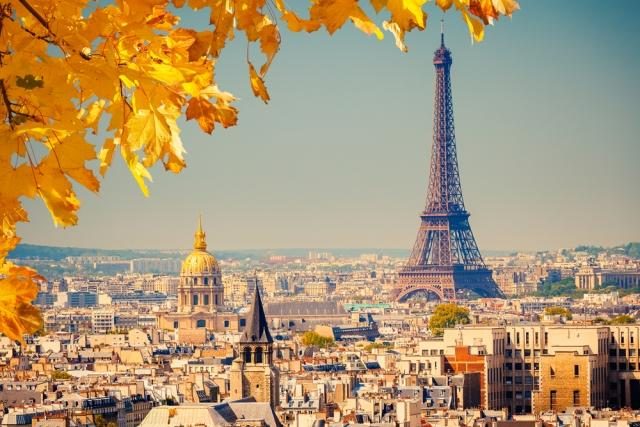 View of Paris during Autumn.