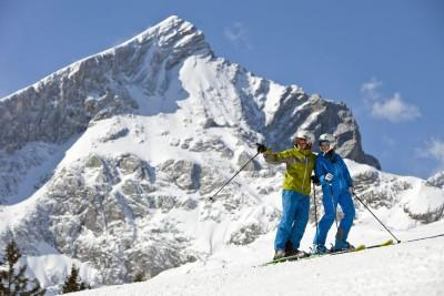 Skiing in Garmische
