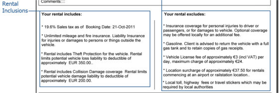 Auto Europe Car Rental Voucher FAQs