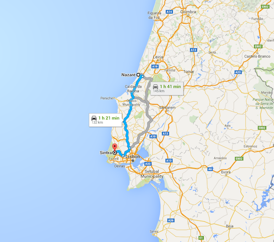 Touring Portugal By Car Lisbon To Sintra Road Trip - Portugal map nazare