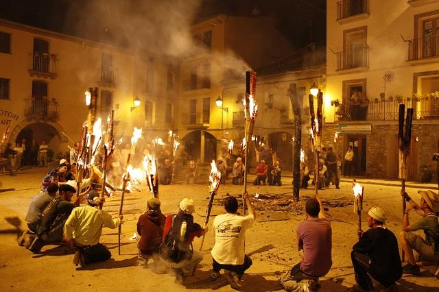 Fire Feast Celebrations Berga, Spain