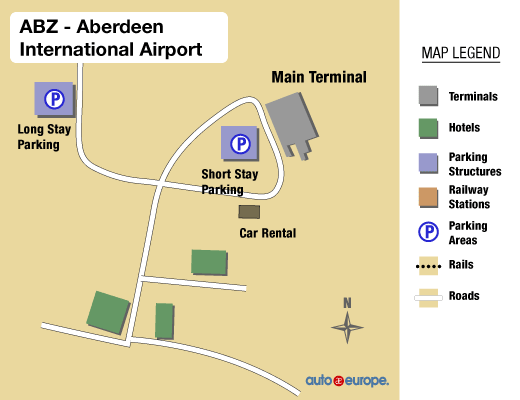 Aberdeen Airport Map