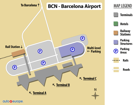 Car Rental El Prat Airport Save 30 on Rentals in Barcelona
