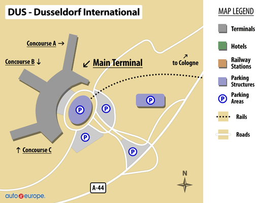 Dusseldorf Airport Map
