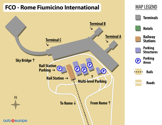 Fiumicino Airport Map