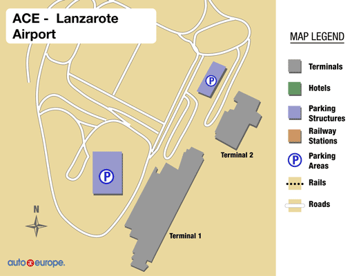 Lanzarote Airport Map