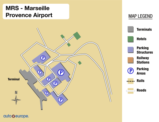 Marseille Provence Airport Map